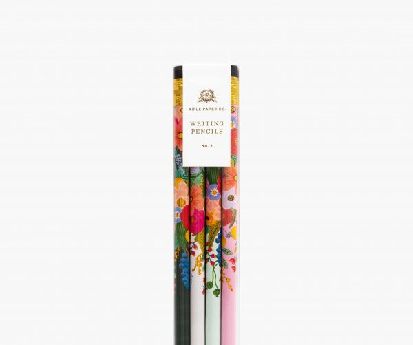 rifle paper co garden party pencil set closeup
