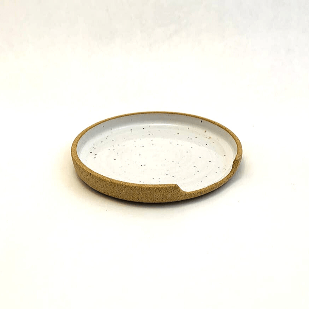 Ceramic Spoon Rest Checkered Moon