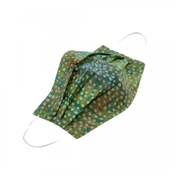 Batik Green with Dots Face Mask