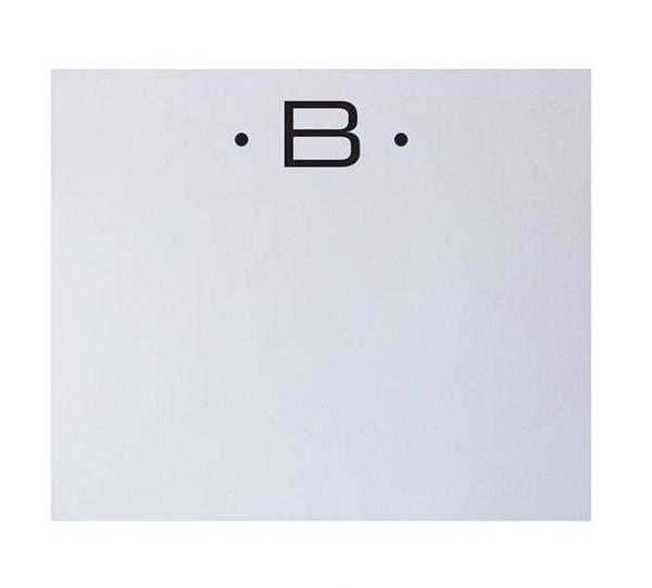B - Black Initial Notepad