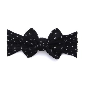 Baby Bling Patterned Shabby Knot Black Dot