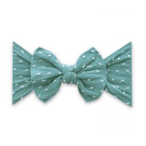 Baby Bling Patterned Shabby Knot Teal Dot