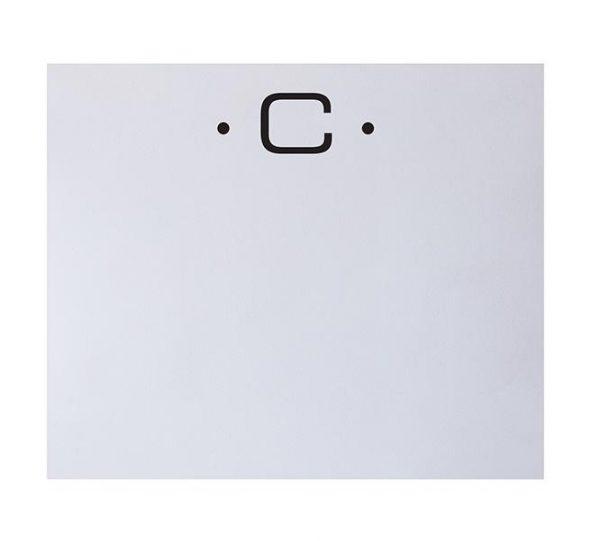C - Black Initial Notepad