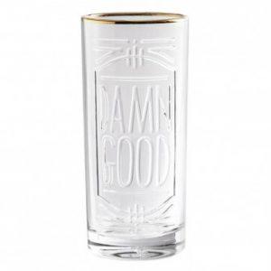 Damn Good Embossed Highball Glass