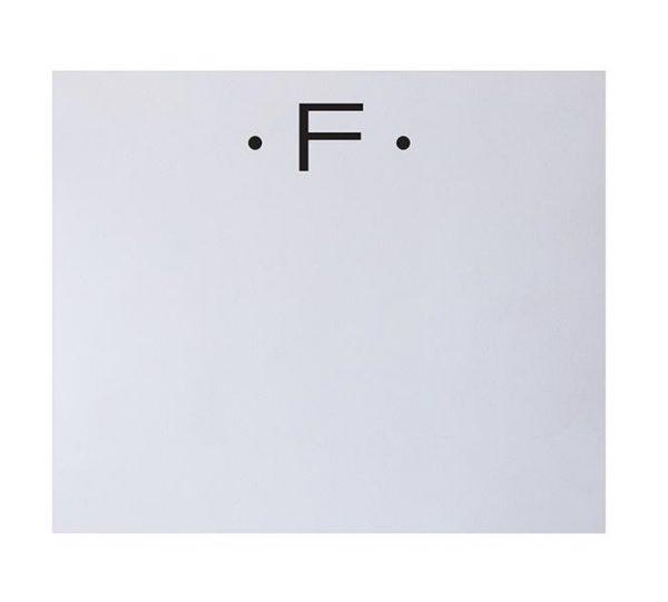 F - Black Initial Notepad