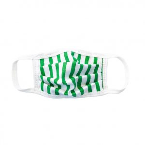 Green Stripe Child Face Mask