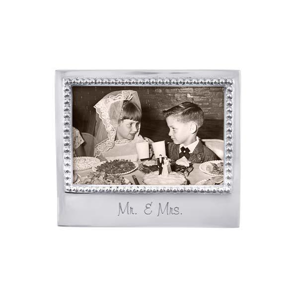 Mr & Mrs Beaded 4x6 Frame