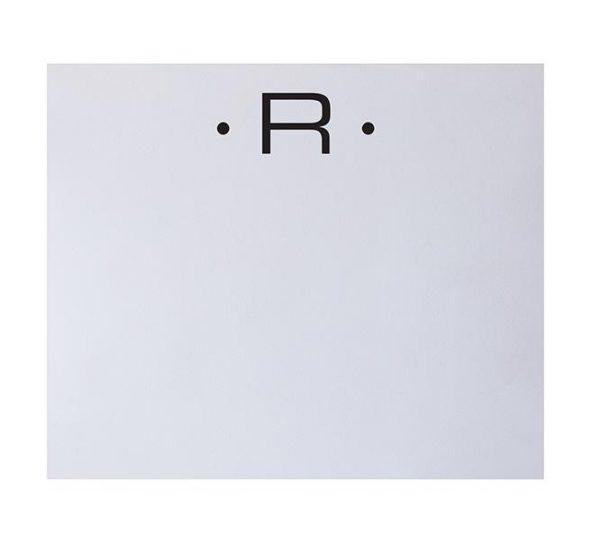 R - Black Initial Notepad