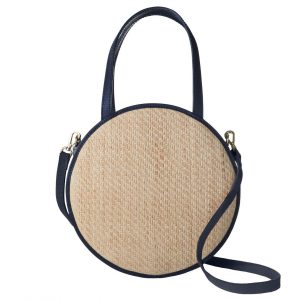 Woven Straw Leather Bag