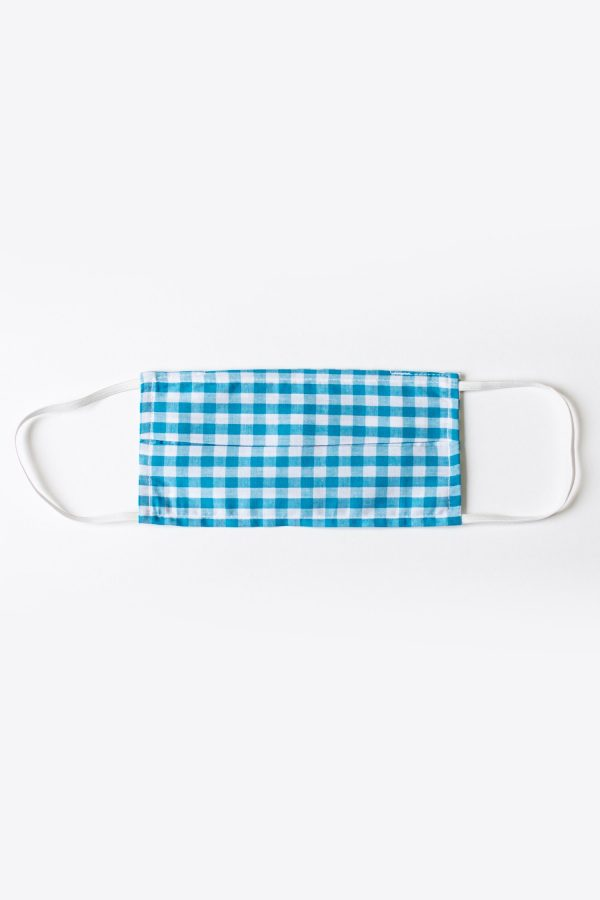 Blue Gingham FaceMask