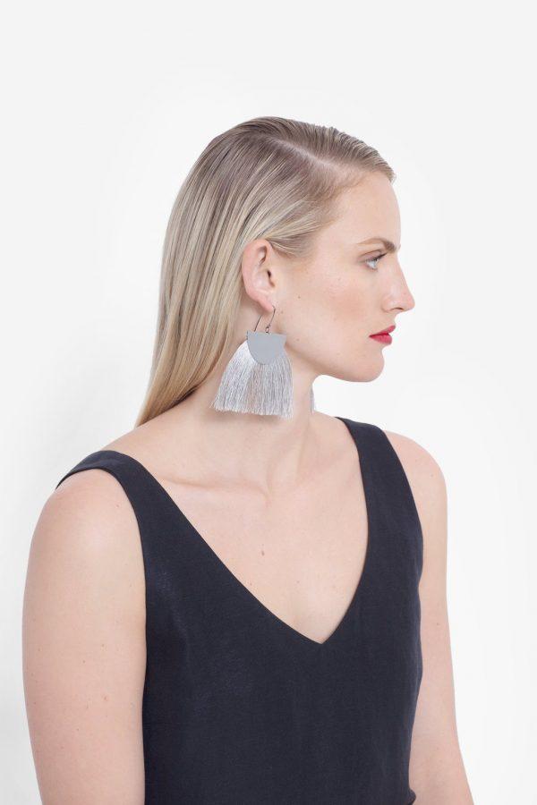 Elk the Label Holm Earrings Silver on Model