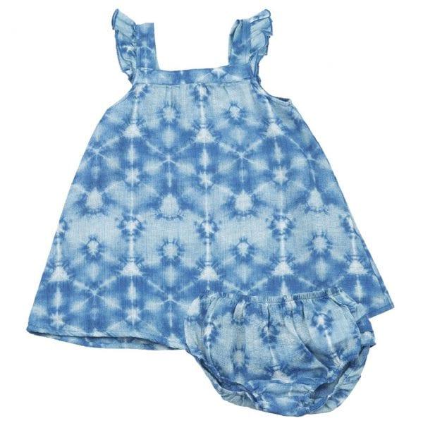 Indigo Shibori Sundress & Diaper Cover