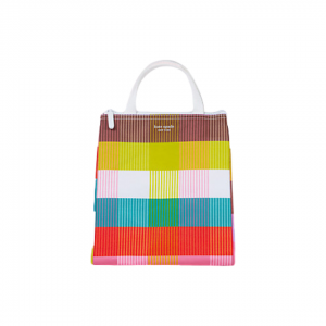 Kate Spade Rainbow Plaid Lunch Bag Front