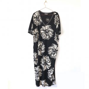 Alembika Dahlia Print Caftan Dress