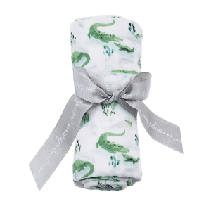Angel Dear Simple Alligator Swaddle Blanket