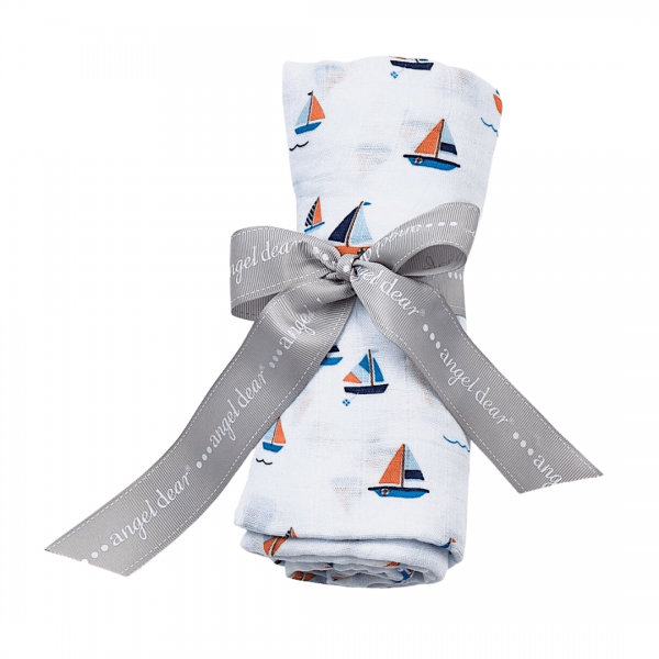 Angel Dear Simple Boats Swaddle Blanket
