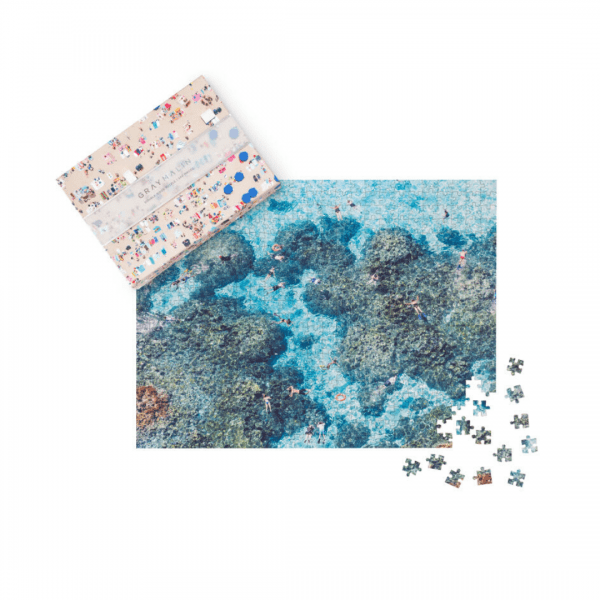 Gray Malin The Beach Two-Sided Puzzle Snorklers