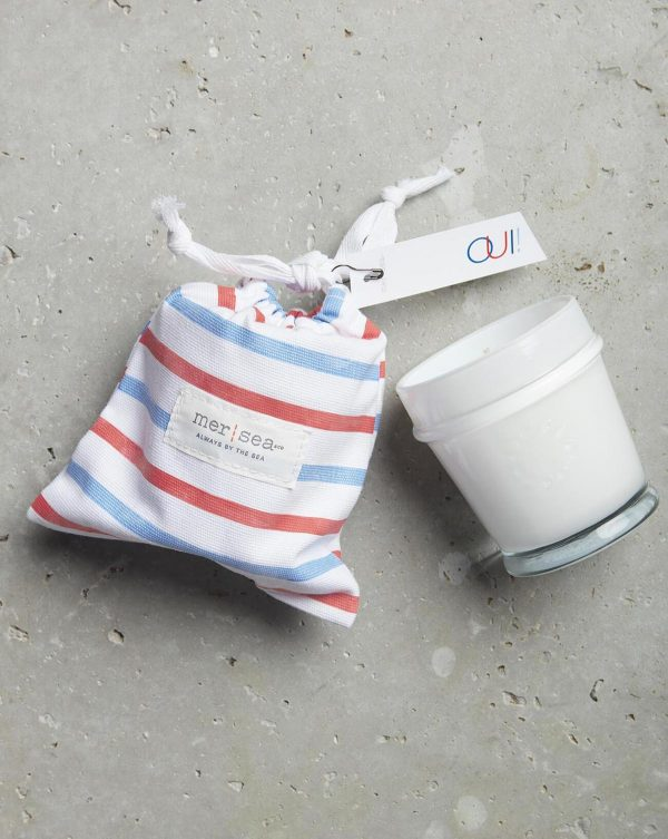 Mer Sea Oui Striped Sandbag Candle