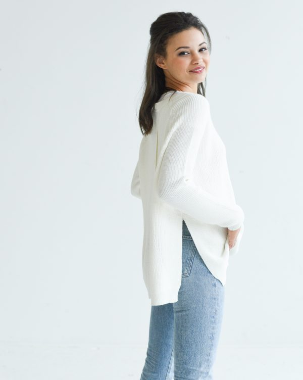 Mersea White Camden Sweater Editorial