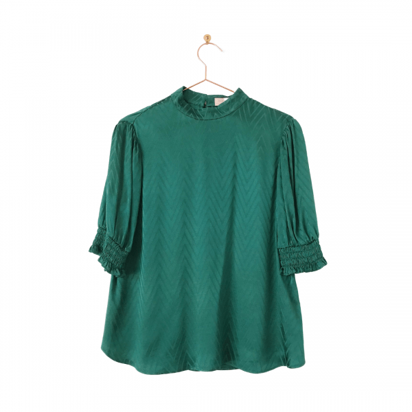 Ted Baker Emerald Green Tiarie Bluson Top