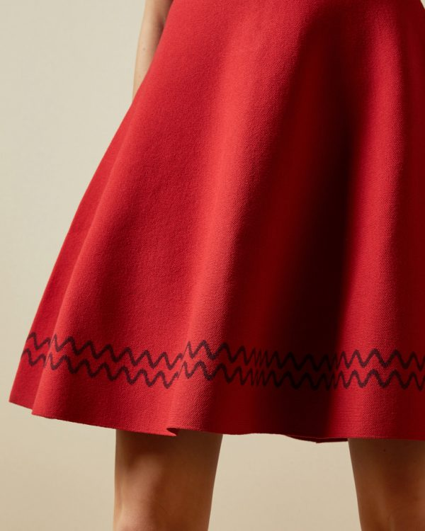 Ted Baker Scallop Knitted Skater Dress Detail 1