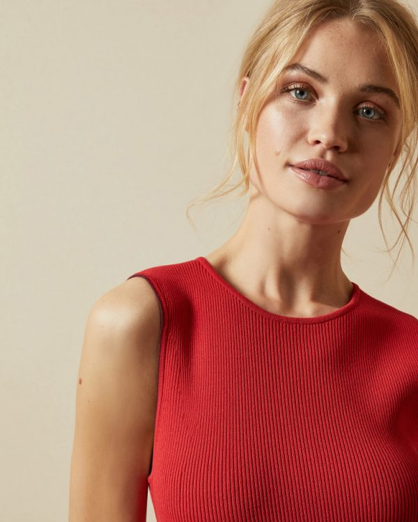Ted Baker Scallop Knitted Skater Dress Detail