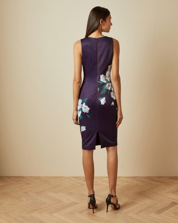 Ted Baker Toriiy Wilderness Bodycon Dress Back