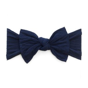 Baby Bling Navy Classic Knot