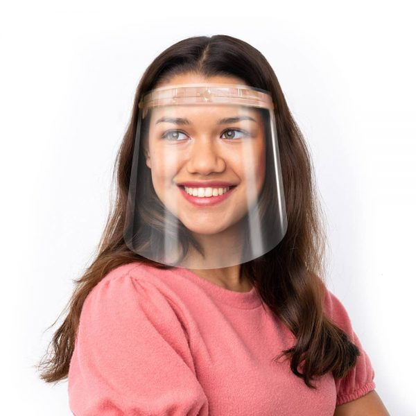 Blush Frame Face Shield on Model
