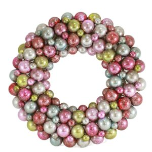 Multi Encrusted Pastel Wreath