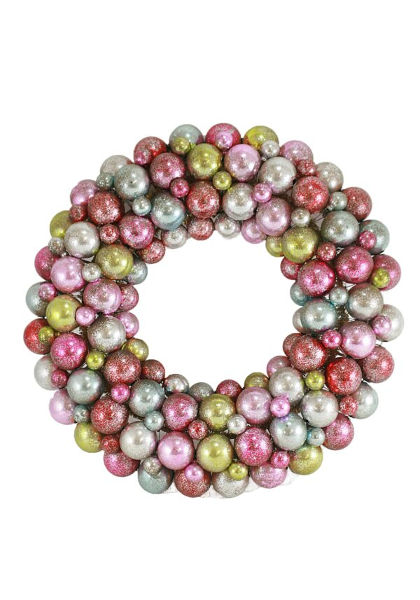 Multi Encrusted Pastel Wreath