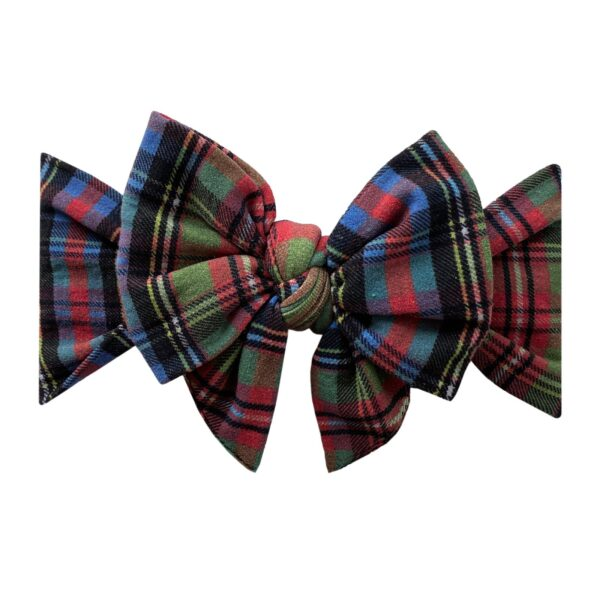 Baby Bling Holiday Plaid Bow
