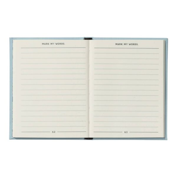 Small Mark My Words Notebook Open