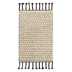 Speck Black Hand Knotted Rug
