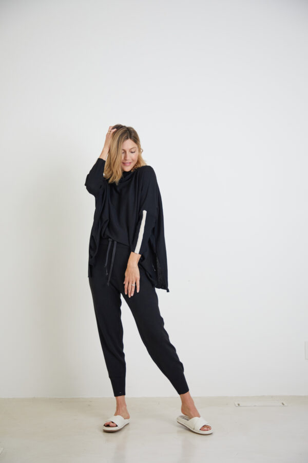 Mer Sea Black Lovecycled Split Turtleneck 1