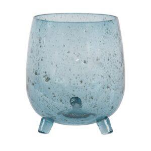 Blue Seeded Glass Vase