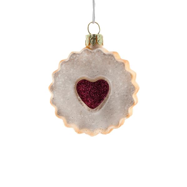 Raspberry Linzer Cookie Ornament