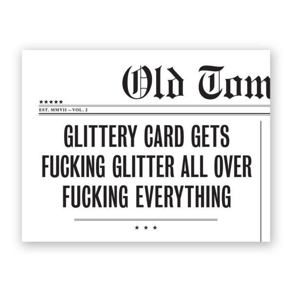 Glittery Card