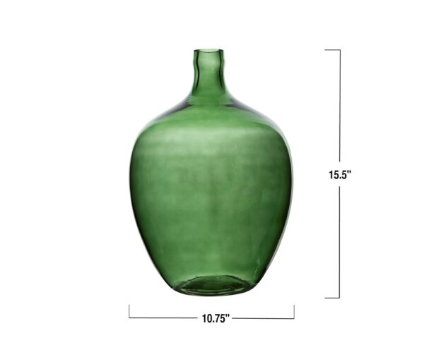 Large Green Glass Bottle Size Chart