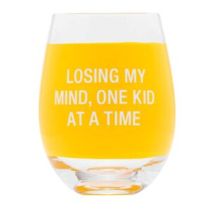 Losing My Mind Wine Glass