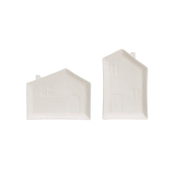 Matte White House Plates