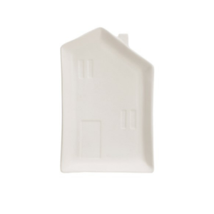 Matte White Tall House Plate