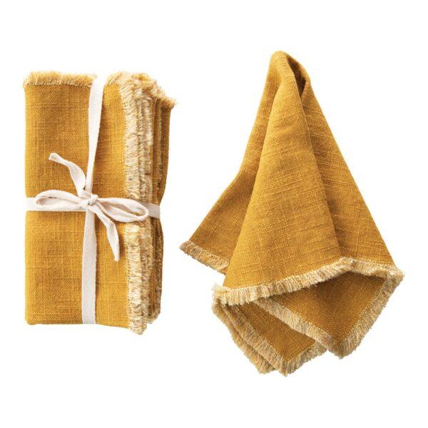 Mustard Linen Blend Napkins
