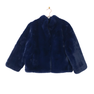 Navy Faux Fur Bomber Jacket