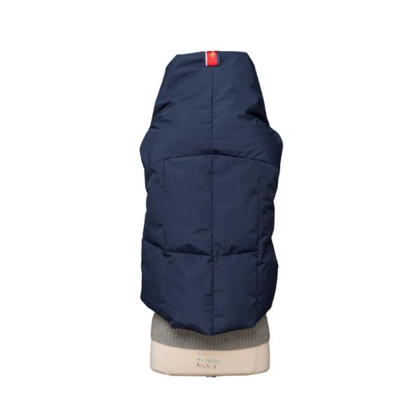 Navy Waterproof Pretty Puffer Vest Back