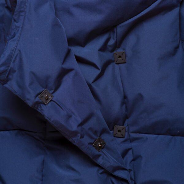 Navy Waterproof Pretty Puffer Vest Closeup