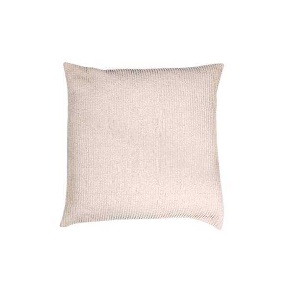 Oatmeal Woven Stripe Square Pillow