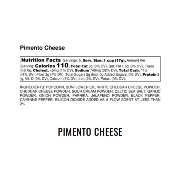 Pimento Cheese Popcorn Nutrition