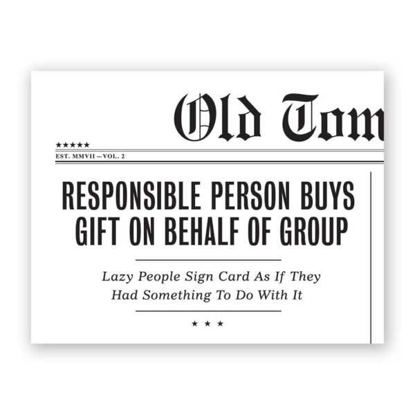 Responsible Person Card