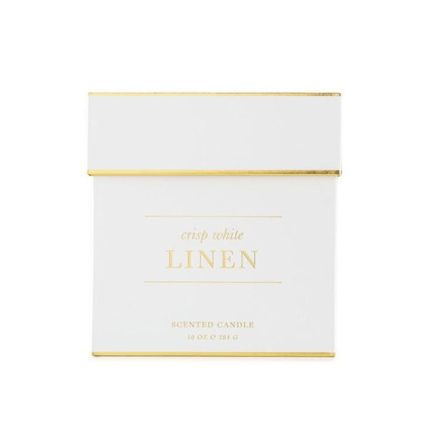 Sugar Paper Crisp White Linen Candle Box